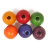 Wooden Bead Round 8mm Multi